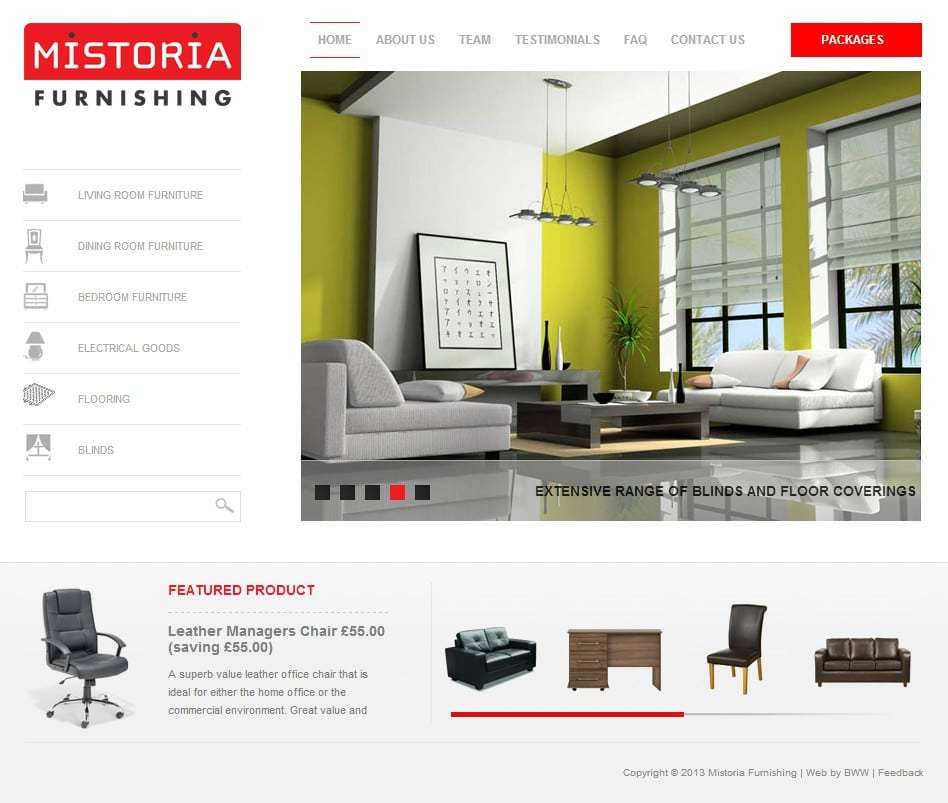 Mistoria Furnishing Website